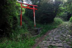 Roadside shrine Tokaido Royalty Free Stock Photography