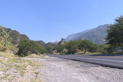Roadside in Sierra Madre Mountains of Jalisco Royalty Free Stock Image