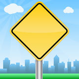 Roadside Sign Royalty Free Stock Photo
