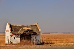 Roadside Stall. Derelict roadside stall near magaliesburg South Africa situated in farmland during winter Royalty Free Stock Photography