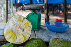 Roadside Stall Selling Jackfruit Stock Photography