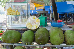 Roadside Stall Selling Jackfruit Royalty Free Stock Image