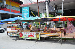 Roadside stall selling shrimp paste at Tualang in Malaysia Royalty Free Stock Image