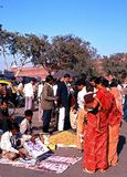 Roadside stalls by the Red Fort, Delhi. Royalty Free Stock Photography