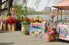 Roadside stalls selling flowers Royalty Free Stock Photography