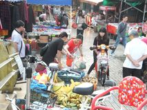 Roadside stalls selling small commodities. In Shenzhen, china royalty free stock photo