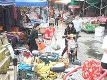 Roadside stalls selling small commodities. In Shenzhen, china stock images