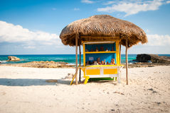 Roadside stand on beach in Mexico Royalty Free Stock Image