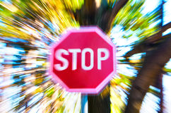 Roadside stop sign Stock Photography