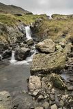 Roadside stream and Waterfall Royalty Free Stock Photos
