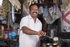 Roadside Tea vendor Royalty Free Stock Photos