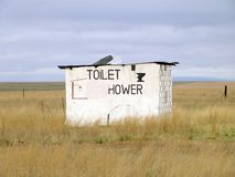 Roadside Toilet. Rural Roadside Toilet and Shower Ruins royalty free stock images