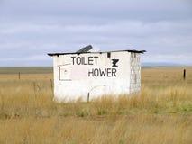 Roadside Toilet. Rural Roadside Toilet and Shower Ruins Royalty Free Stock Images