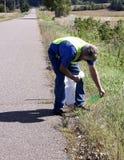 Roadside trash pickup Stock Images