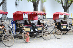 Roadside tricycles Stock Photography