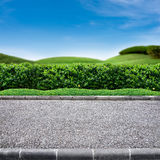 Roadside view. Of grass lanscape Royalty Free Stock Photo