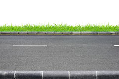 Roadside view and grass Stock Photo