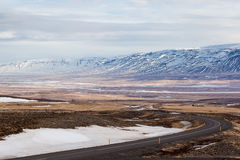 Roadside view in northern Iceland Stock Photo