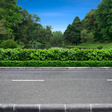Roadside view of park Stock Photography