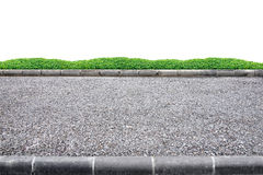 Roadside on white. Roadside view on white background royalty free stock images