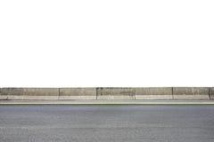 Roadside on white Stock Photo