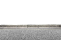 Roadside on white Royalty Free Stock Photography