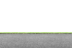 Roadside on white. Wide road side and grass on white background Royalty Free Stock Image