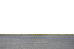 Roadside on white. Wide road side view on white background Royalty Free Stock Photos