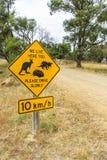 Roadside wildlife protection sign Stock Photo