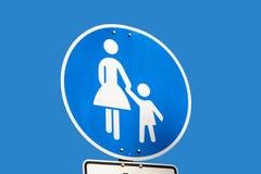 roadsign пешехода ребенка Стоковая Фотография