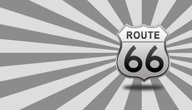 Roadsign трассы 66 Стоковые Изображения