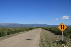 Roadsign in Argentinien Lizenzfreie Stockbilder