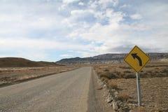 Roadsign in Argentinien Lizenzfreies Stockfoto