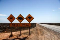 Roadsign in Australien stockbild