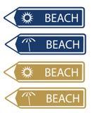 Roadsign beach Stock Photo