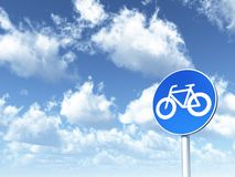 Roadsign bicycle Royalty Free Stock Image
