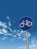 Roadsign bicycle Stock Photography