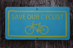Roadsign Bycicle Royalty Free Stock Photos