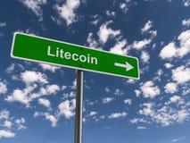 Roadsign de Litecoin ilustração stock