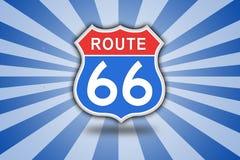 Roadsign de Route 66 Imagen de archivo libre de regalías