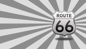 Roadsign de Route 66 Imagenes de archivo