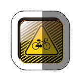 Roadsign de symbole de vélo Images libres de droits
