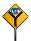 Roadsign do Gen Y Imagem de Stock Royalty Free