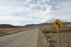 Roadsign em Argentina Foto de Stock Royalty Free