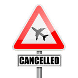 RoadSign Flight Cancelled Stock Images