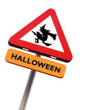 Roadsign Halloween foto de stock