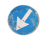 Roadsign italiano arrugginito Fotografia Stock