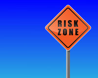 Roadsign risk zone. Stock Image