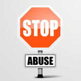 Roadsign Stop Abuse Stock Photos