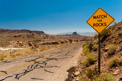 Roadsign Watch for Rocks Royalty Free Stock Photography
